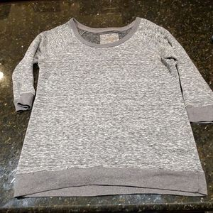 Grey 3 quarters sleeve shirt